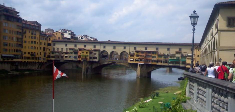 5. Jazyková výprava: Florencie - most Ponte Vecchio s dílnami zlatníků